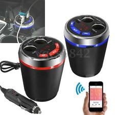 Bluetooth FM Transmitter Car Kit MP3 Player USB Charger 2 Cigarette Lighter Cup