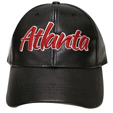 Atlanta Falcons Faux Leather Cap New With Tags Free USA SHIPPING !!!