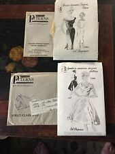 2 Vintage Spadea American Designer Dress Patterns-Ceil Chapman
