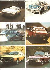 Alpine A 310 Berlinette R12 Gordini Advertising Publicité AD Vintage Années 70'
