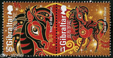Year of the Horse pair of mnh stamps Gibraltar 2014