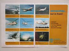 5/1973 PUB AEROSPATIALE CONCORDE AIRBUS A300B CORVETTE GAZELLE LAMA PUMA AD