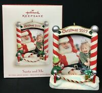 Hallmark Keepsake Christmas Ornament Santa and Me Photo Holder 2007 NEW IN BOX