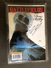 Battlefields: DEAR BILLY PART #1 OF 3  Signed Auto by Garth Ennis DF LE Dynamite