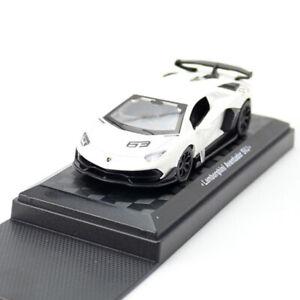 1:43 Lamborghini Aventador SVJ Model Car Diecast Toy Pull Back White Kids Gift