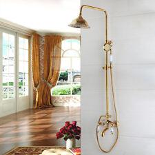 Cuarto De Baño Oro Plateado Spray de mano cabeza de ducha de lluvia grifo de la Bañera Grifo Mezclador