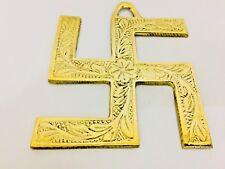 Wall Hanging Swastik Hindu Plaque Brass Swastika Metal Figurine - Free Shipping