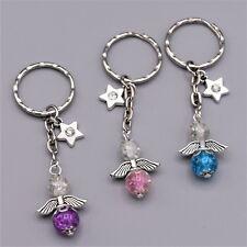 Bastelset 15 Schlüsselanhänger Schutzengel Glücksbringer Perlen Engel mit Strass