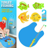 Magnetic Toy Toilet Fishing Game Set - Potty Time Fish Game for Adults Kids Toys