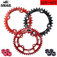 SNAIL 104BCD 32T-52T Chainring 7075 AL Narrow Wide MTB Bike Chainwheel Bolts
