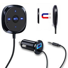 Handsfree Bluetooth 3.5mm AUX Audio Music Receiver Adapter MP3 Player Car Kit