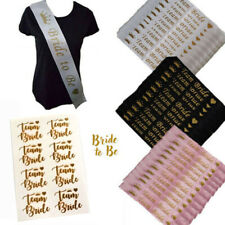 1,8,16,24 HEN PARTY TEAM BRIDE TO BE SASHES SASH TATTOOS ACCESSORIES KIT