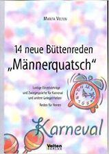 """14 Neue Büttenreden """"Männerquatsch"""" Karneval Fasching Reden"""