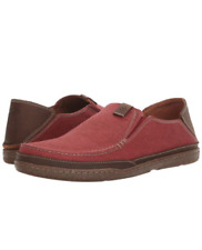 NEW CLARKS Men's Trapell Form Slip-On Loafer Red Canvas SIze US7
