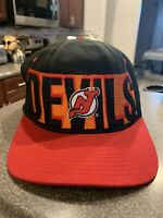 New Jersey Devils Hat Starter Snapback NHL 1990's Vintage Deadstock RARE