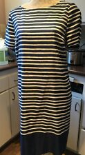 The Limited Navy Stripe Shift Dress. Large