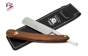 Vintage Wooden Professional Barber Salon Straight Cut Throat Shaving Razor Pouch