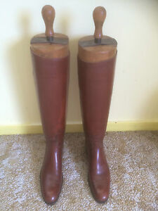 Vintage Bespoke Ladies Riding Boots (tan) with Trees (Keepers) by Peal & Co