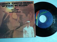 "JOE COCKER & JENNIFER WARNES - UP WHERE WE BELONG  7""~ USA import copy EX /EX"
