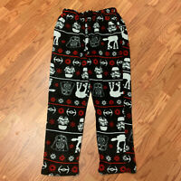 Star Wars Pajama Bottoms Lounge Pants Size M Death Vader/ Storm Trooper Fleece