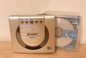 Sharp MD-ST501-NS Portable MiniDisc Player with AC & MD TESTED Working Good F/S
