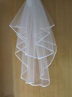 Wedding / Bridal Veil with Satin Edge