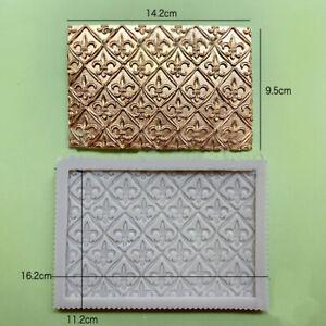 Vintage Baroque Silicone Fondant Mould Chocolate Cake Embosser Border Mat Mold