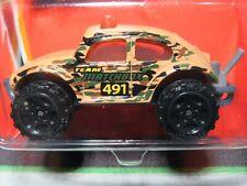 BROWN VOLKSWAGEN BEETLE 4X4 #74 TREASURE 2005 1/64 MATCHBOX DIECAST CAR