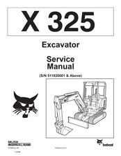 New Bobcat X 325 Excavator 1994 Edition Repair Service Manual Free Shipping