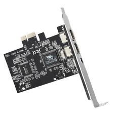 PCI-E Firewire Expansion Card Black 3 Ports 2*1394b (6 Pin) 1*1394a (4 Pin) NEW