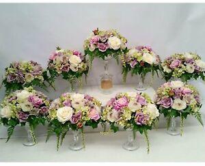 NEW Artificial Flowers/Plants Wedding Table Centrepieces -Purple - Stephanie L
