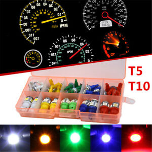 40PCS Mixed 12V T10 T5 LED Dashboard Light For Car Instrument Panel Cluster+ Box