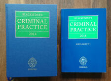 Blackstone's Criminal Practice 2014 and Supplement 1