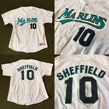 Vintage Florida Marlins Gary Sheffield Majestic Jersey Men's XL MLB Baseball