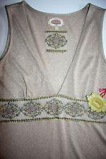 Avoca Dress Kleid Cini Gold Empire Etuikleid Stickerei size: 3 /40 / L   Neu