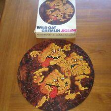 Rétro vintage 1975 folle avoine gremlin jigsaw puzzle monsanto limited