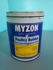 VINTAGE TIN MYZON POULTRY BUILDER LIVE STOCK VETERINARY MEDICINE 3 1/2lb