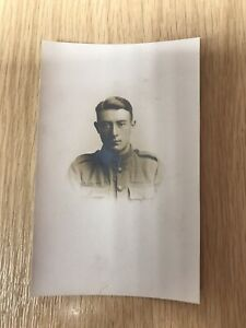 WW1 Soldier Photo Portrait Postcard. 🇬🇧 Gloucester Studio.