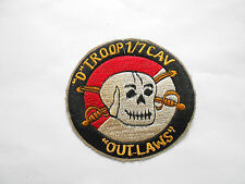 PATCH - D TROOP 1ST OF 7TH CAV OUTLAWS PATCH