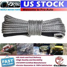 """1/4""""x50' 10000LB Cable de recuperación de línea de Cuerda SINTETICA CABRESTANTE ATV SUV 4WD Con Vaina"""