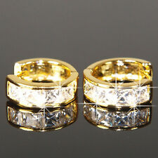 14K Yellow Gold Filled Earrings made with Swarovski Crystal 15mm Xmas Men E414G