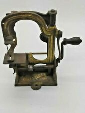 "RARE MINIATURE 4"" SEWING MACHINE 'THE TABITHA' DECORATIVE GILT METAL FRAME"