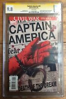 Captain America #25 Variant Death of Cap America CGC SS 9.8 Signed Steve Epting