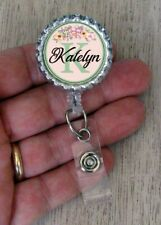 Flower Personalized Retractable BADGE REEL ID Badge Holder