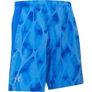 "Men's Under Armour Launch SW 7"" Inch Running Gym Printed Shorts Size Medium"