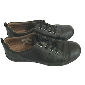 Thom McAn Leather Shoe US 7M Black Oxford Laced Whitnee Womens Sneakers Hipster