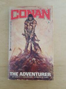 Vintage 1980s Conan The Adventurer #5 Book Robert E Howard & Sprague De Camp