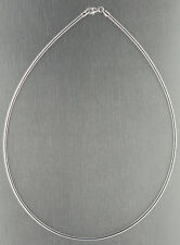42 cm Solid Omega Necklace Silver 925 Rhodium-Plated Bracelet round Chain 2 MM