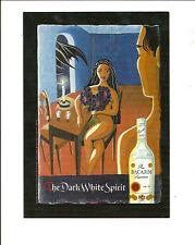 BACARDI RUM THE DARK WHITE SPIRIT. LIQUOR SEXY ADVERTISING POSTCARD