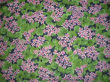 Hoffman Blooms Pink Blossoms on Navy Quilt Fabric